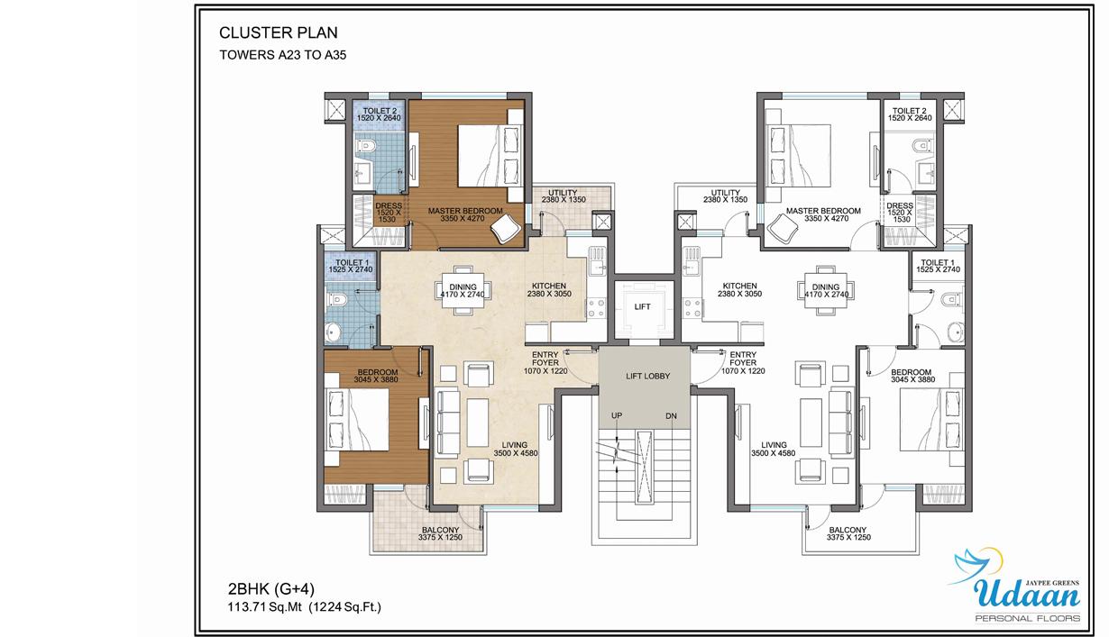 Jaypee greens for 4 bhk apartment design